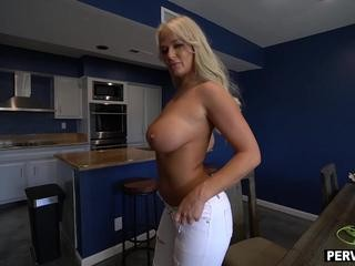 Upset mature stepmom MILF fucked her big dick stepson