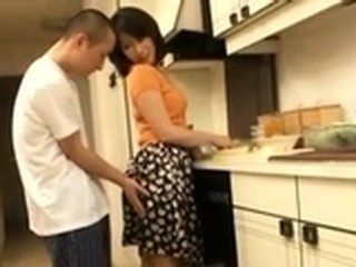 Sex With My Asian Japanese Hot Aunt In Home Kitchen