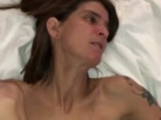 Skinny tattooed wife quickie creampie in Vegas hotel