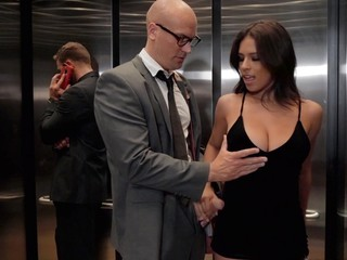 Sean gets to fuck boss's girlfriend in the elevator