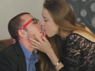Russian courtesan realizes all sex fantasies of nerdy guy