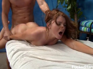 Cheeky Ava gets a really intense pussy massage