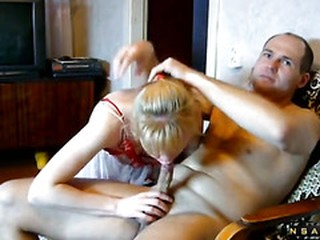 Married Russian homemade couple fucking
