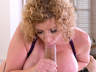 Curly big-titted nurse is having sex with her patient