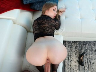 Bad girl Lena Paul fucking in the couch with her bubble butt