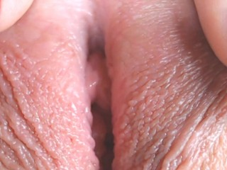 Extreme close-up pussy on webcam