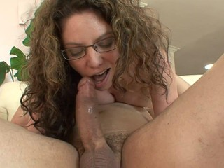 Busty mature horny woman seduces younger dude to fuck her