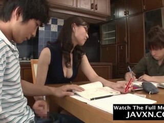 Hot Japanese Mom And Shy Stepson