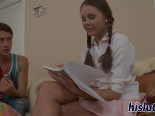 Petite Russian honey has her butthole drilled