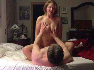 Mature wife riding