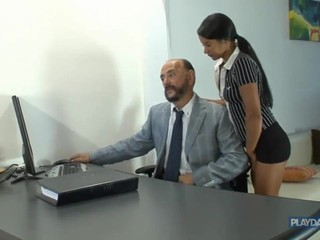 Old Boss Fucks Young Worker