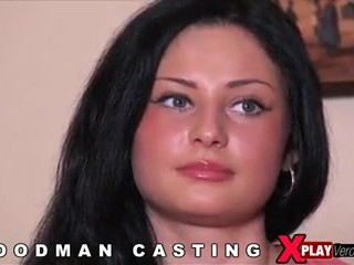 Dark-haired beauty from Russia fucked at casting