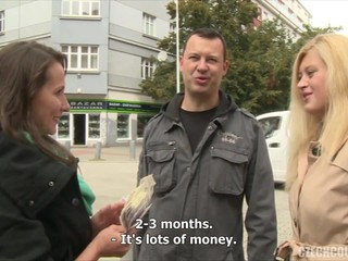 Czech couple for cash agrees to have sex with another couple