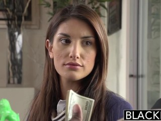 August Ames fucks with black guy for cash