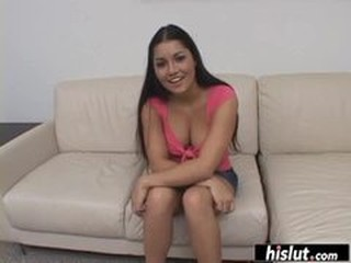 Beautiful Latina gets filled with semen