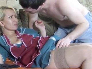 Horny Mature Russian Maid Fucked in the Ass