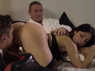Cuckold hubby enjoying wife sharing sex