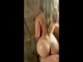 Hot Shower Sex After School With Amazing Big Ass Blonde Teen