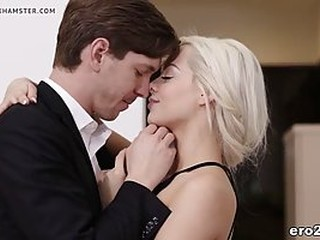 Charming blonde call girl, Elsa Jean is spreading up to get fucked for some extra cash