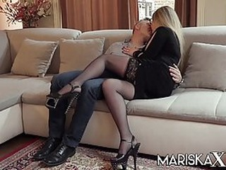 Elizabeth is a slutty, blonde secretary who likes to have sex with Pascal and his wife