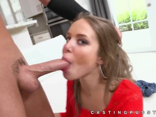Handsome Liza Rowe deep throat then screw
