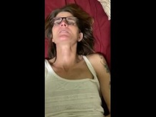 Skinny old wife creampie quickie before bed