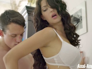 Flawless Russian babe Beili gets her small anal hole fucked gently