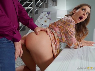 A pleasant MILF scene with mommy riding in reverse