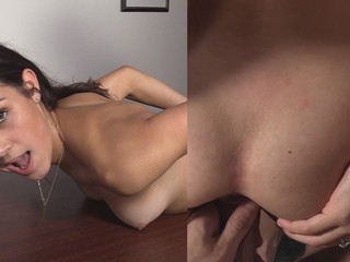 Pretty Amateur 18 yo does Anal on her First Casting