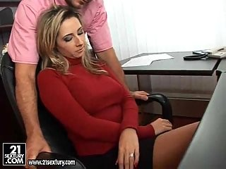 Crazy fisting and ass hole penetration in the office