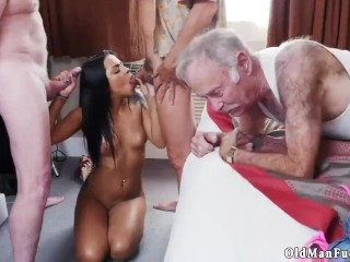 Old milf big tits crony' playfellow man