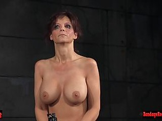 Kinky milf with big boobs likes to spice up her sex life with a bit of bondage