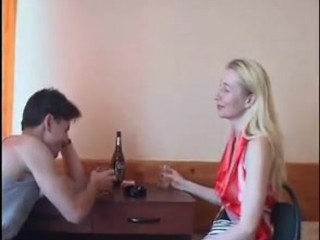 Russian sexy mature mom and her boy amateur