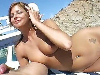 Stunning Busty Blonde Babe Gets Fucked and Facialized Outdoors