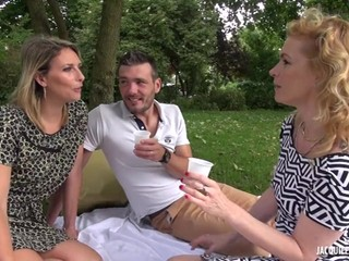 Two Mommy Bitches In Action - Outdoor Sex