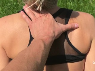 Quick fuck in public place almost caught