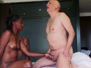 African porn actress Olivia in her first porn action