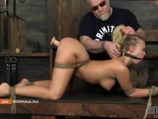 HARD TEEN SUBMISSSIVE GIRL'S EXPERIENCE ON TABLE