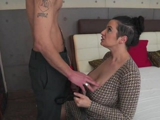 Big Breasted modern mom fucking lucky son