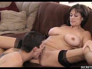 EXPERIENCED MILF FUCKS YOUNG BOY