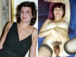 Dressed Undressed Vintage Girls Lots of Hairy Pussies