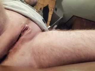 Squirting FTM cunt pulsating hard watching porn.