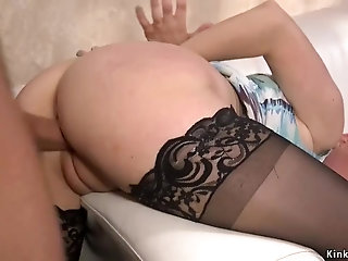 Husband anal bangs bound busty wife