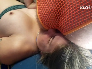 Bound slave has a stinky face after maledom facesitting